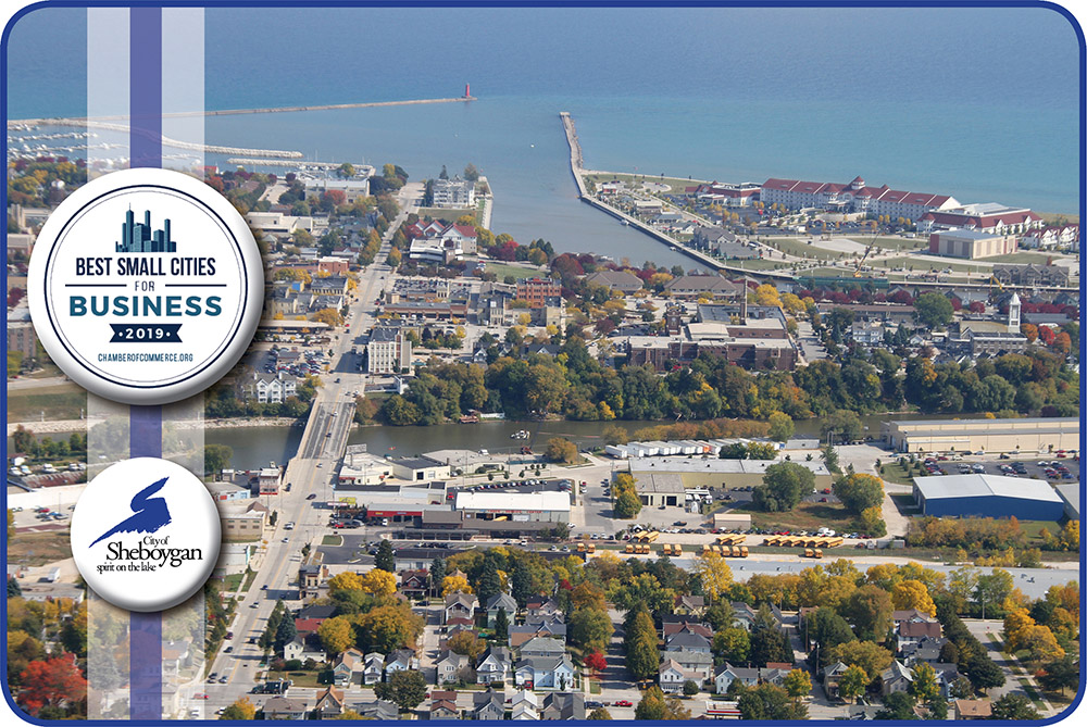 Best Small Cities for Business 2019 Sheboygan aerial